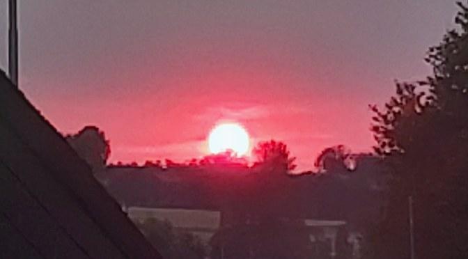 Amazing red sundown